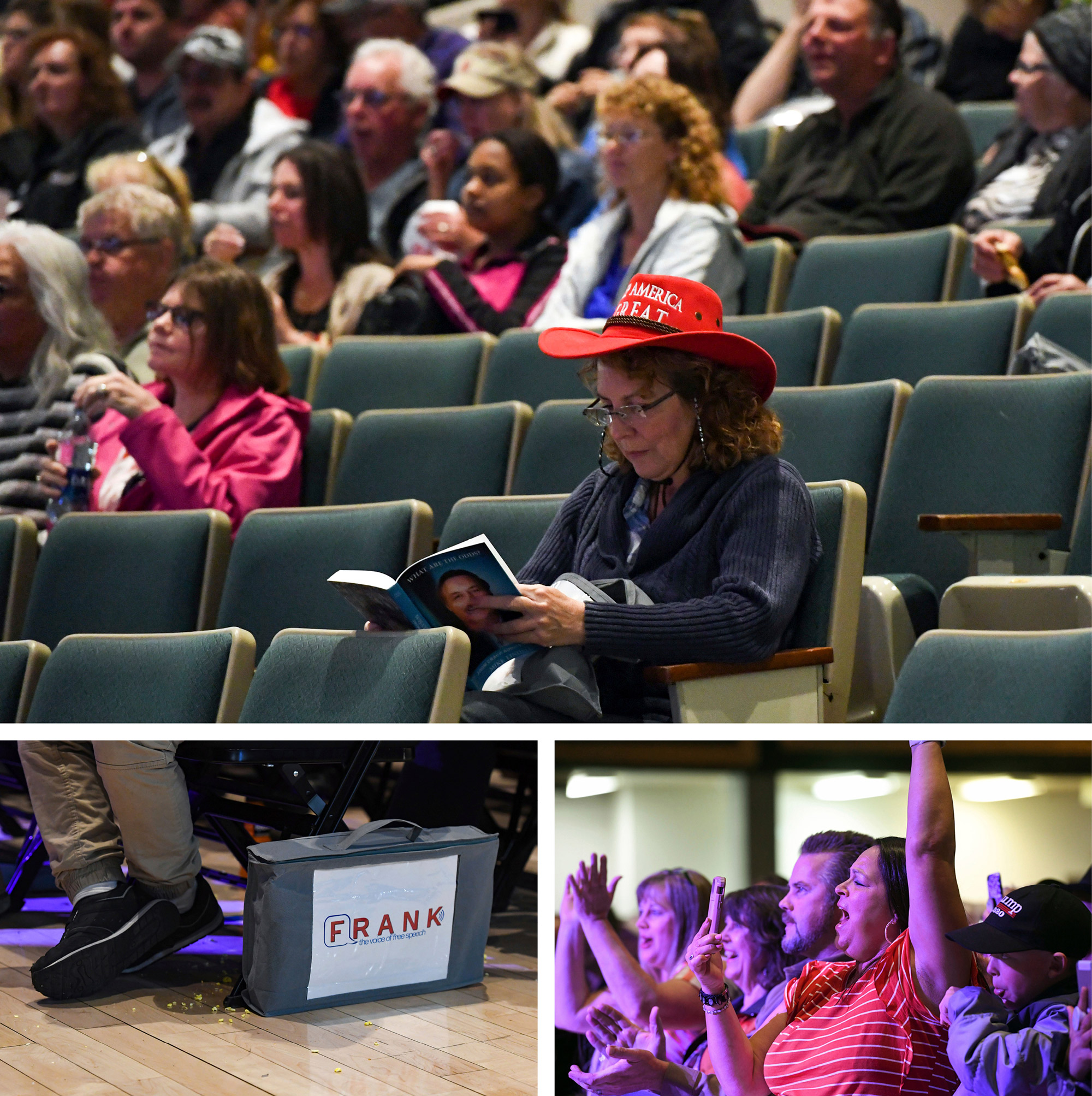 The May launch event for Lindell's website, Frank, in Mitchell, S.D., drew fervent supporters but didn't fill the Corn Palace. Last weekend, a second Frank event included Donald Trump himself making a video appearance on a Jumbotron.