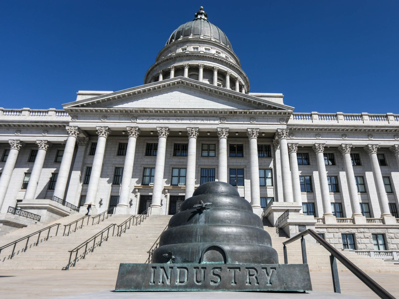 The Capitol in Salt Lake City is pictured in April.